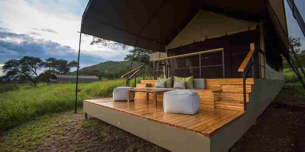 dunia camp decking tanzania yellow zebra safaris