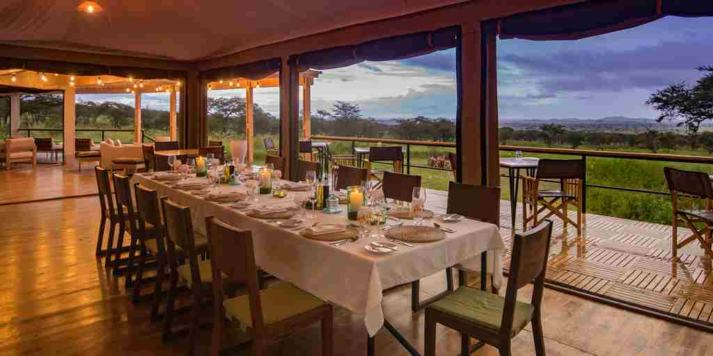 dunia camp dining tanzania yellow zebra safaris