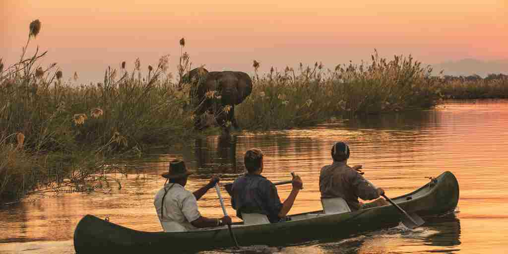 Canoeing in Mana Pools, Tembo Plains Camp