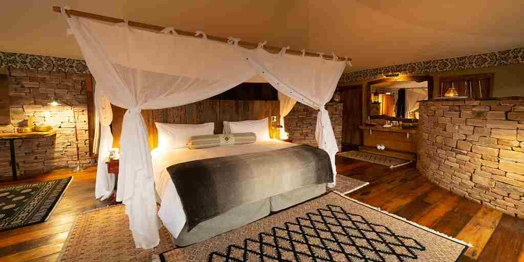 Guest room, Tembo Plains Camp, Zimbabwe