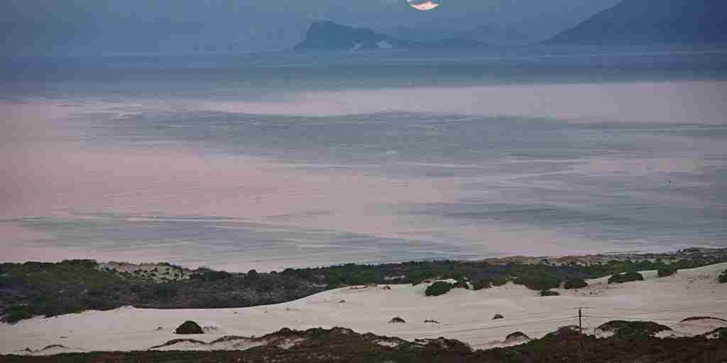 Grootbos. 'The Villa'.Moonset over Walker Bay..jpg