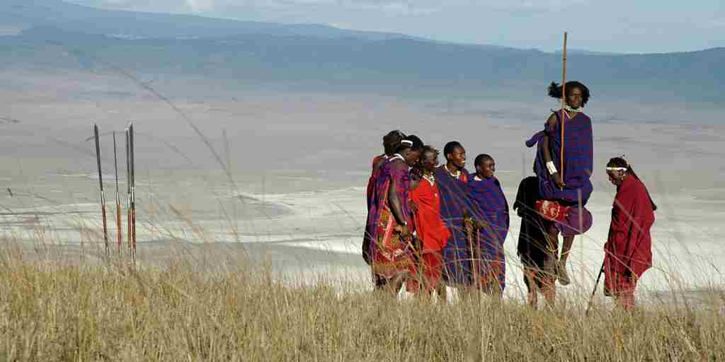 Jumping with the Maasai, Ngorongoro.JPG