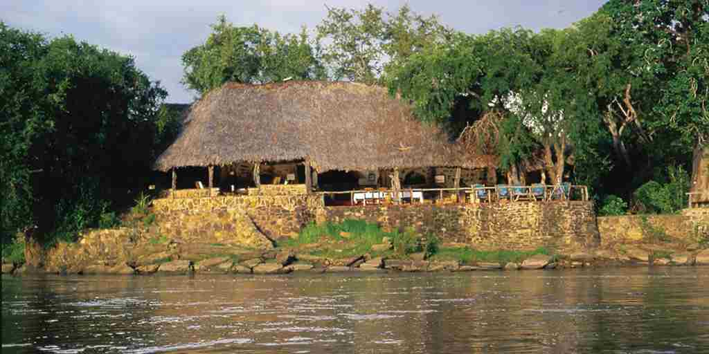 Sand Rivers Selous lodge from river.jpg