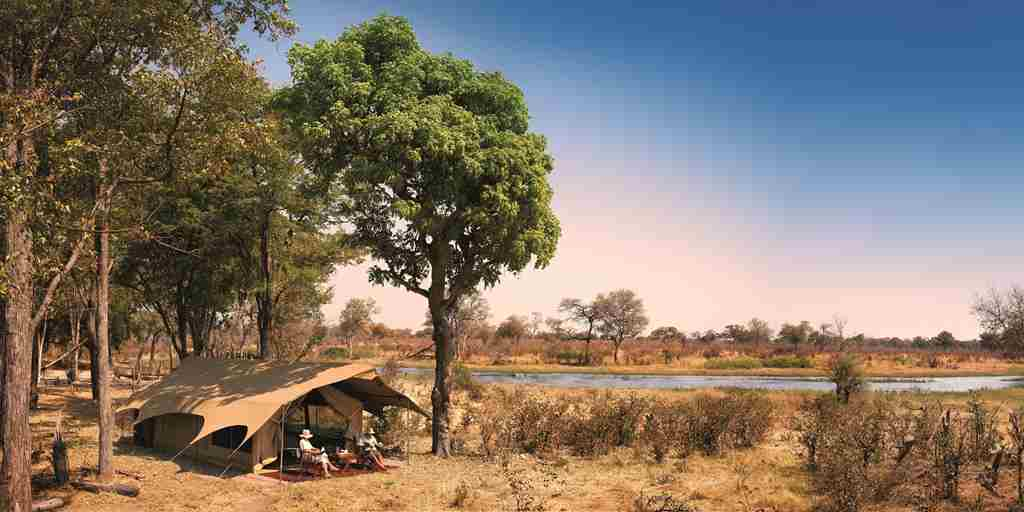 Selinda Exploreres Camp Botswana yellow zebra safaris