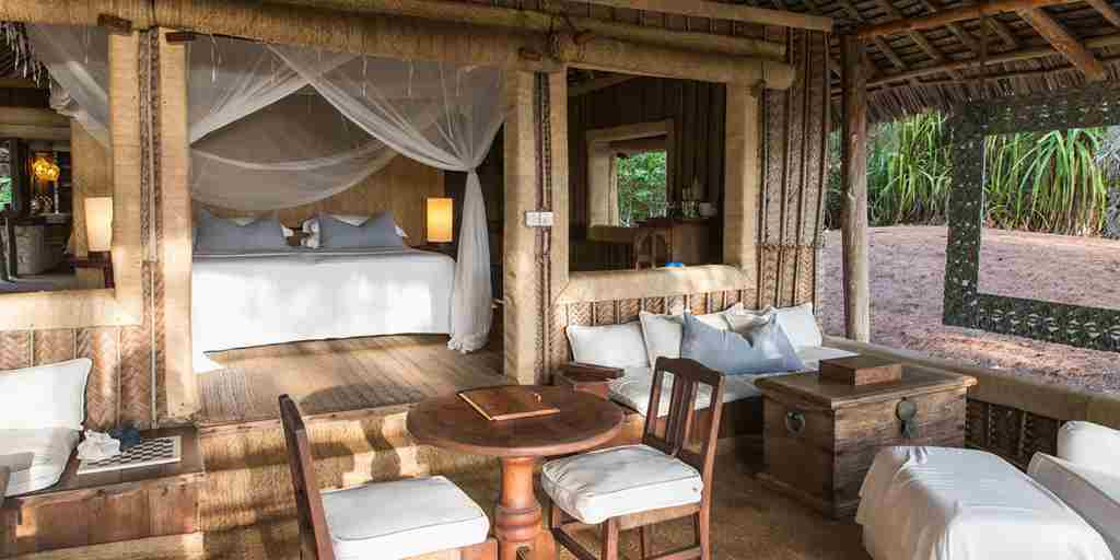 Mnemba Island Lodge guest room