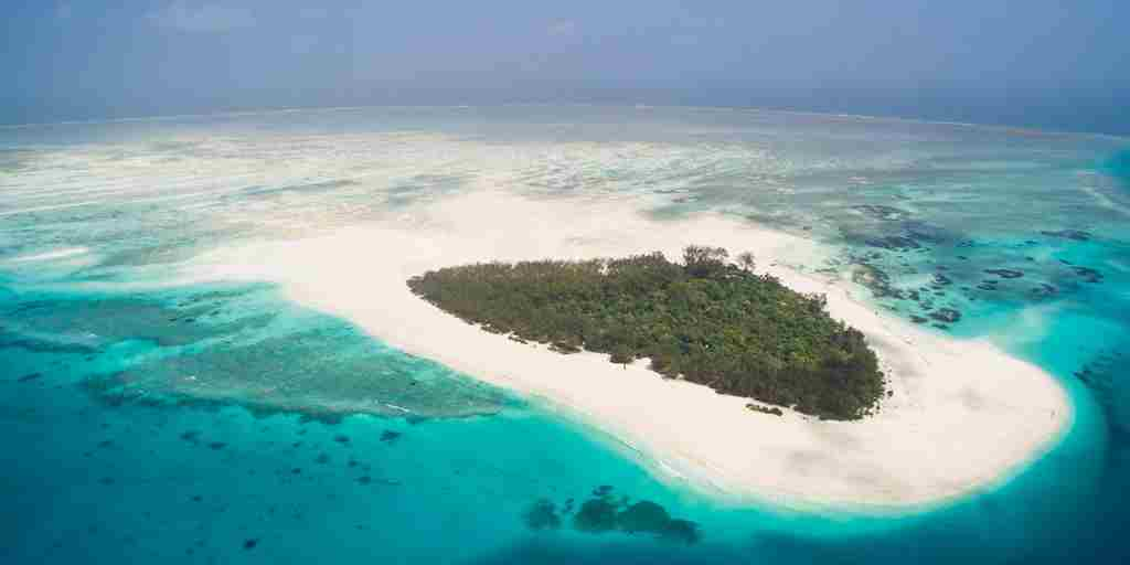 Mnemba Island Lodge view from the sky